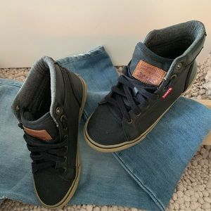 Levi black high tops for kids